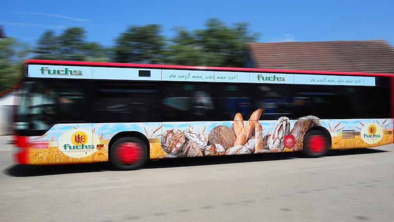 Buswerbung in Schweinfurt & Bayreuth - Bäckerei Fuchs