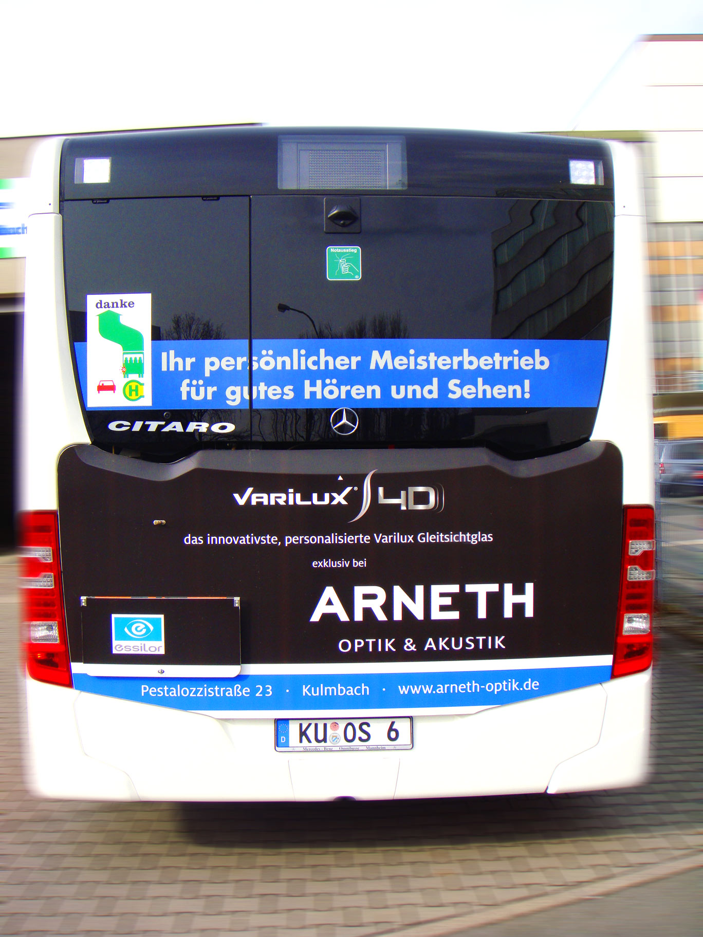 Buswerbung - Arneth Optik - Heck