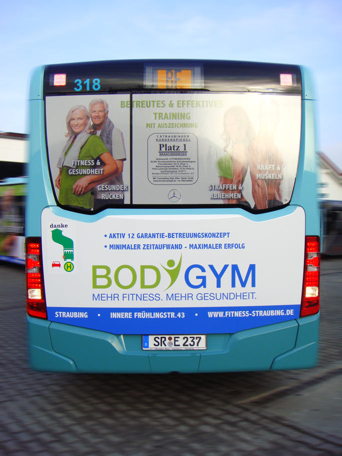 Buswerbung - Body Gym - Heck