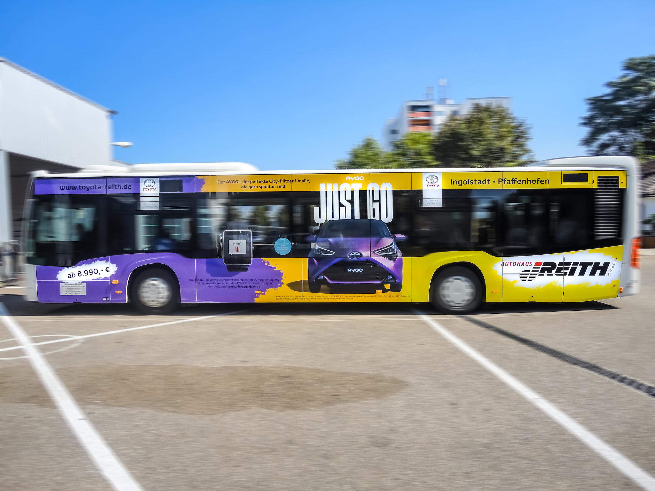 Toyota Reith • Buswerbung Ingolstadt