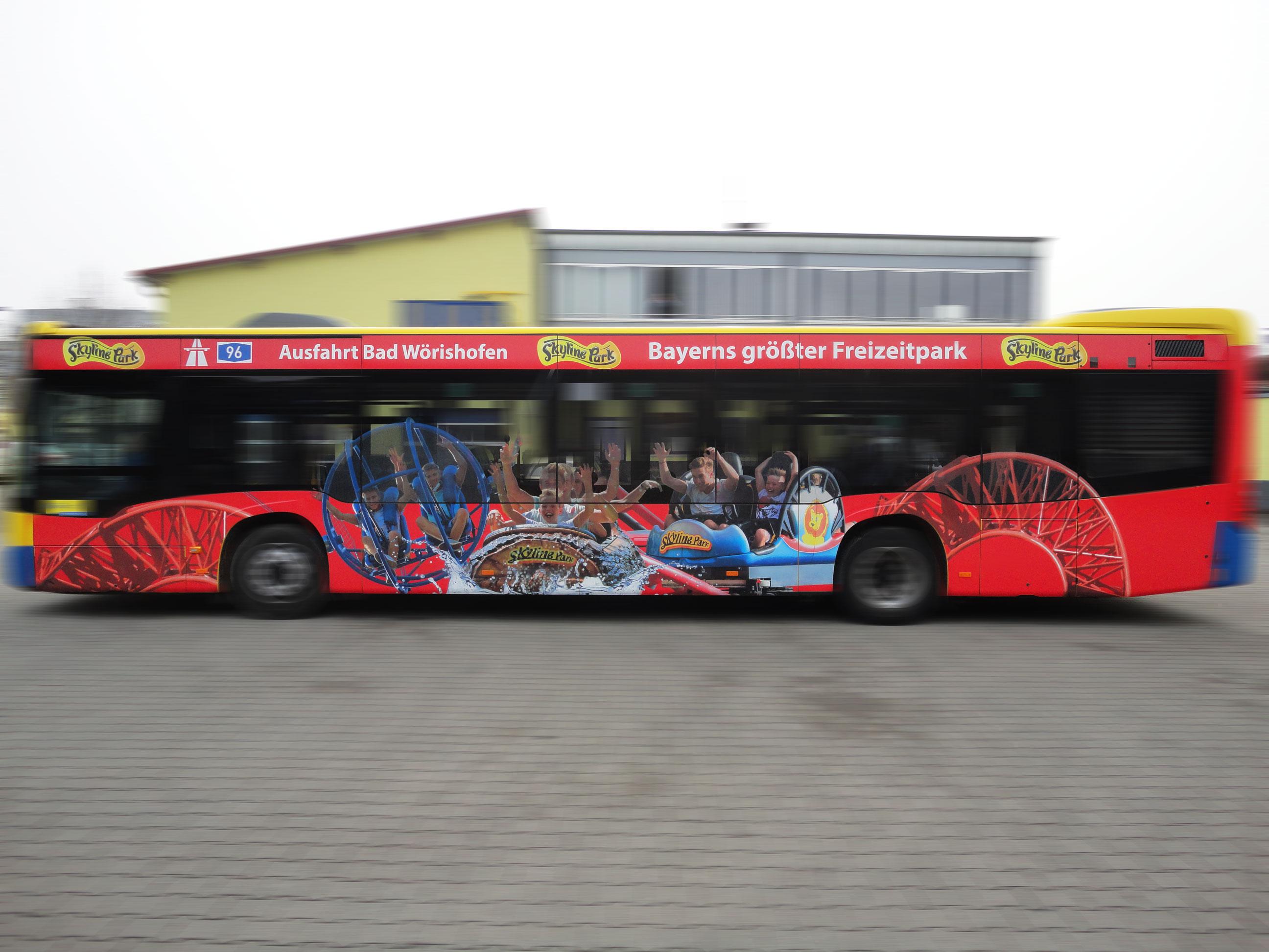 Skylinepark • Buswerbung Nürnberg München Rosenheim etc.