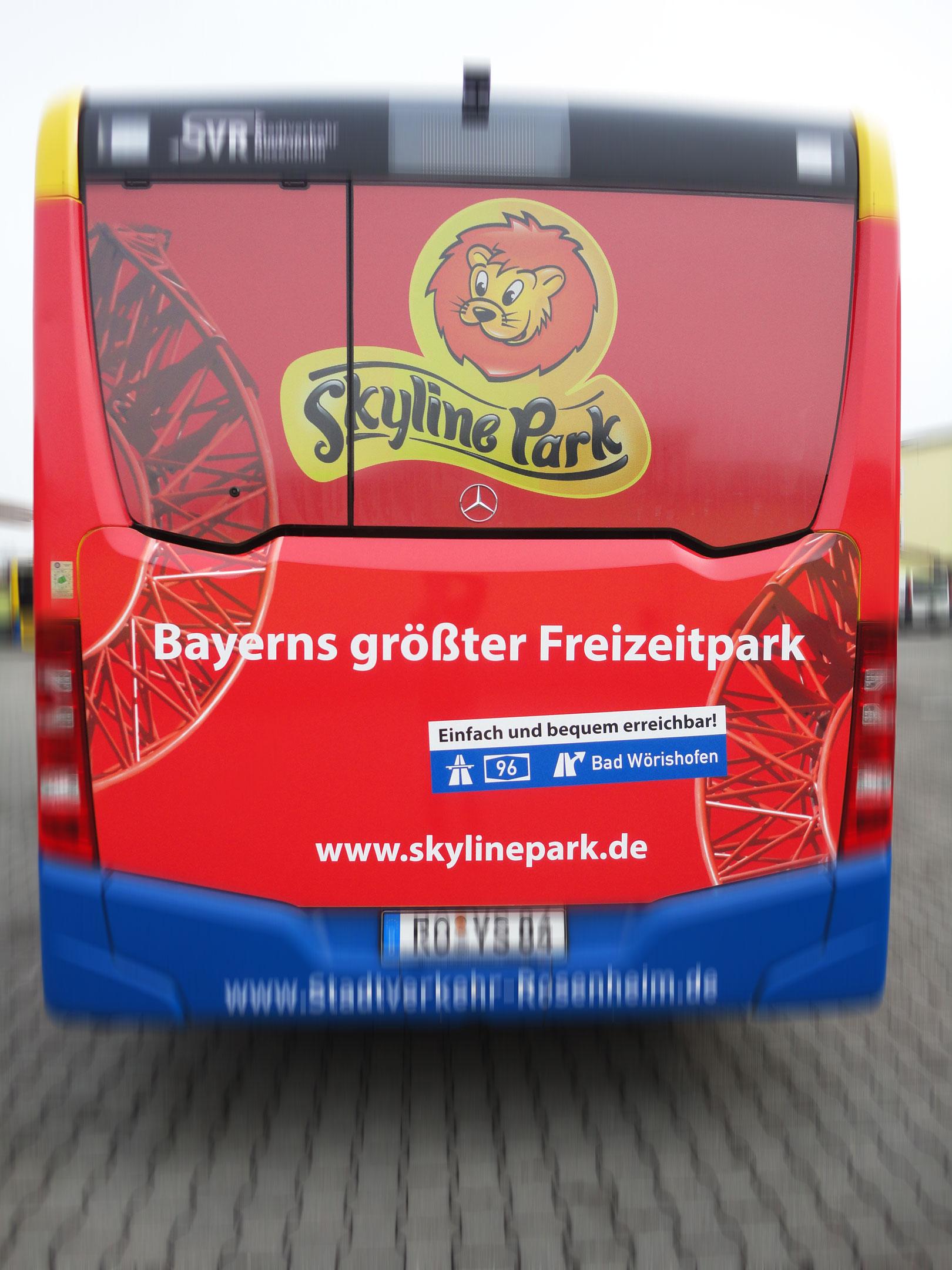 skylinepark buswerbung n rnberg m nchen rosenheim etc. Black Bedroom Furniture Sets. Home Design Ideas