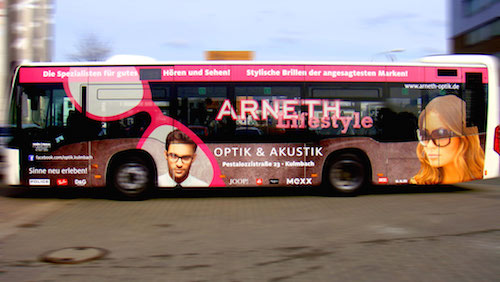 Buswerbung in Kulmbach • Arneth Optik