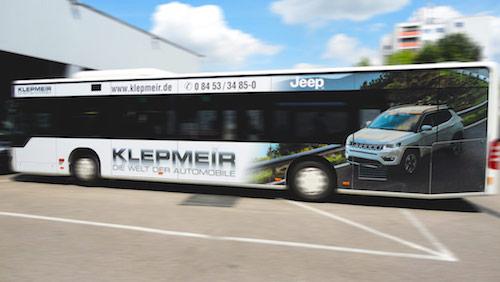 Autohaus Klepmeir  • Buswerbung Ingolstadt