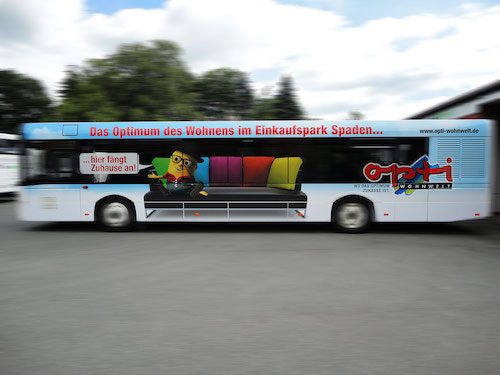 Opti Wohnwelt Buswerbung • Bremerhaven