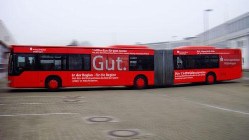 Sparkasse Waiblingen Buswerbung