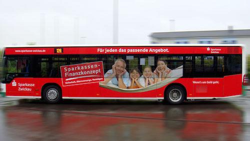 Sparkasse Zwickau Buswerbung