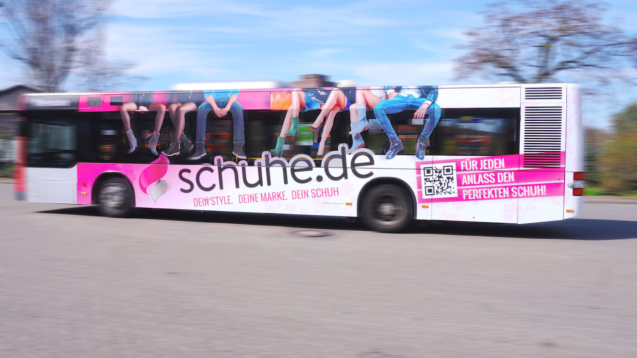 Schuhe.de Buswerbung Düsseldorf
