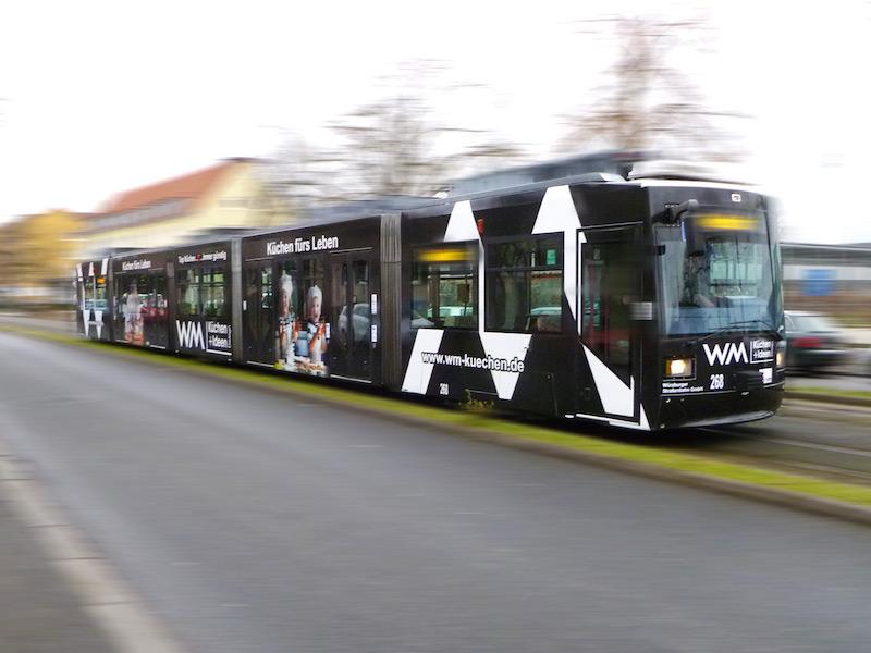 WM Straßenbahnwerbung Würzburg
